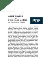 Esprit 7 - 6 - Simon, Pierre-Henri - André Maurois ou l'âme sans lisières