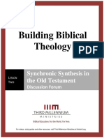 Building Biblical Theology - Lesson 2 - Forum Transcript