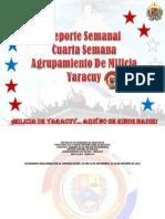 Informe de las Actividades Cuarta Semana (Nueva) Septiembre 2012
