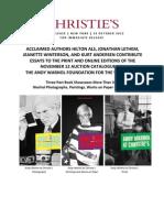 REL Christie's Warhol Catalogue Nov 12