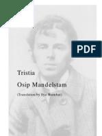 TRISTIA (Osip Mandelstam)