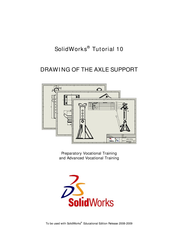 SolidWorks Tutorial10 DrawingAxleSupport English 08 LR