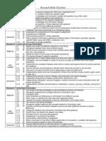 Research Skills Checklist