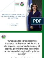 Dominicana Proyecto Bibliotecas