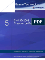Boletin Nº5 Creacion de Ensanches, Civil 3D