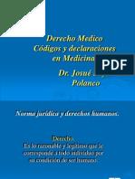 Derecho Medicos, Codigos y Declaraciones en Medicina