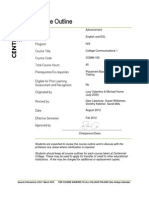COMM 160 2012-08 PDF College Outline