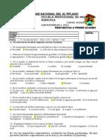 Respuestas a Primer Examen 2012-i