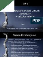 BAB 4 Penatalaksanaan Umum Gangguan Muskuloskeletal