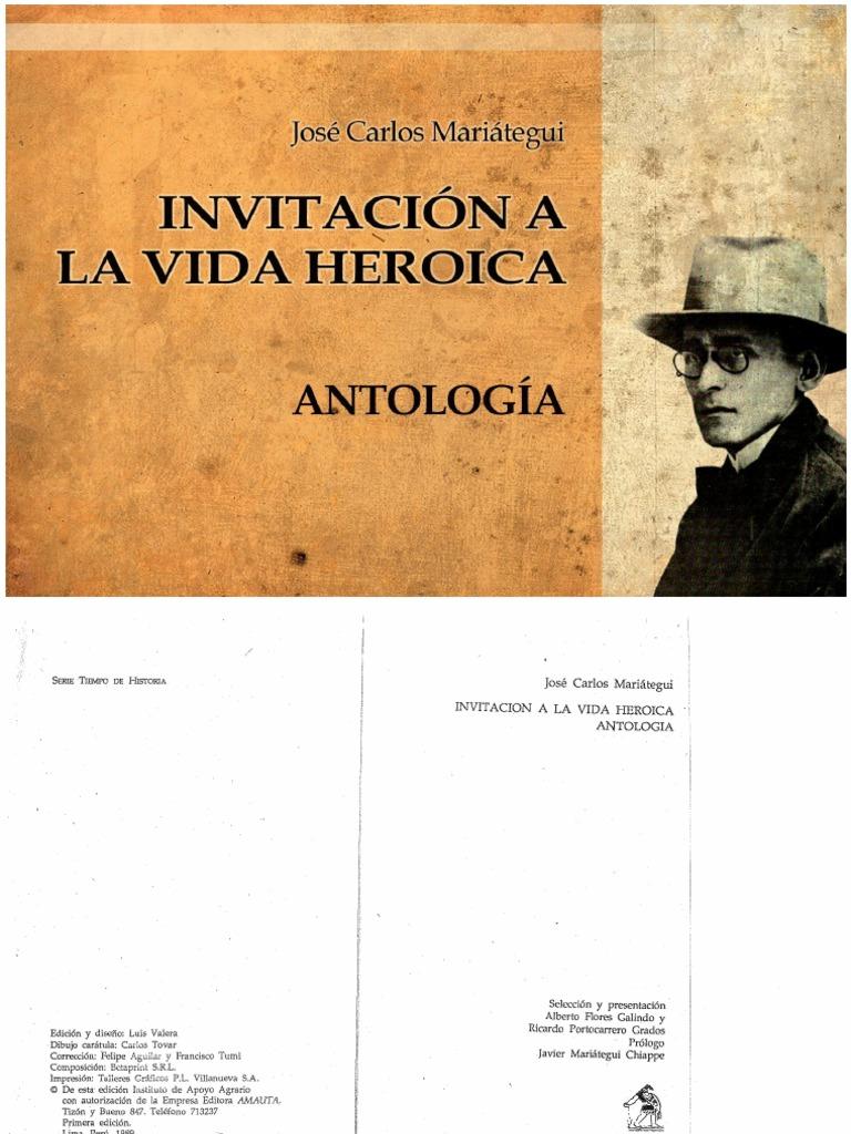 Jose Carlos Mariategui - Invitacion a La Vida Heroica Antologia 2177befe92c