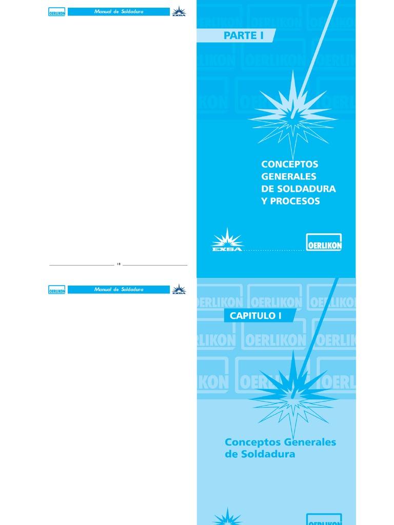 Manual de Soldadura Oerlikon EXSA S.a.