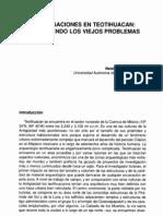 Investigaciones en Teotihuacan_ Redefiniendo Los Viejos Problemas