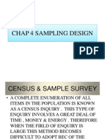 Chap 4 Sampling Design