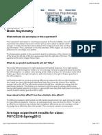 Cog Lab - Brain Asymmetry