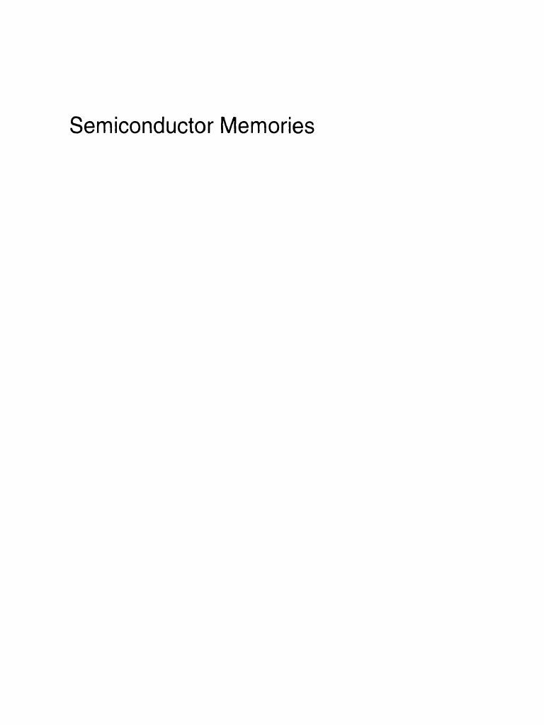 Ashok sharma semiconductor memories technology testing and ashok sharma semiconductor memories technology testing and reliability random access memory dynamic random access memory fandeluxe Images