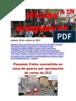Noticias Uruguayas sábado 20 de octubre del 2012