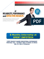 6 Months Internship at XPERT INFOTECH