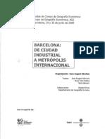 Barcelona. De ciudad industrial a metrópolis internacional