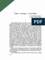 Lógica, ontología y gnoseaología