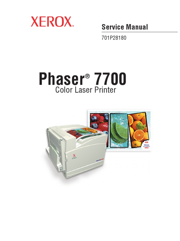Phaser 7700 Service Manual | Electrostatic Discharge | Printer (Computing)