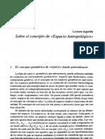 Sobre el concepto de Espacio Antropológico - Gustavo Bueno