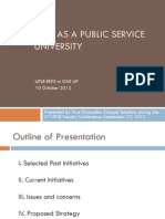 UPLB as a Public Service University