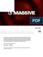 Massive 1.1.4 Manual Addendum English
