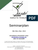 Santé - Seminar Plan 4.Quartal