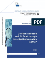 Deterrence of Fraud With EU Funds