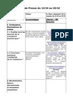 Revue de Presse Terminale Du 13-10 Au 20-10