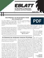 Sägeblatt – anarchistischer Newsletter zu Repression, Solidarität, Gefangenen und ihren Kämpfen - August 2012