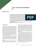Attitudes Toward Tobacco Advertising