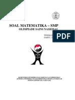 Soal OSP SMP 2012 Bdang Matematika