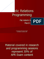 APR PR PRogramming Presentation