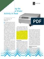 Understanding Water Activity