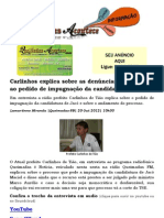 Carlinhos explica sobre as denúncias que levaram ao pedido de impugnação da candidatura de Jacó