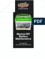 MARINE and RV Battery Lead Acid Battery Training