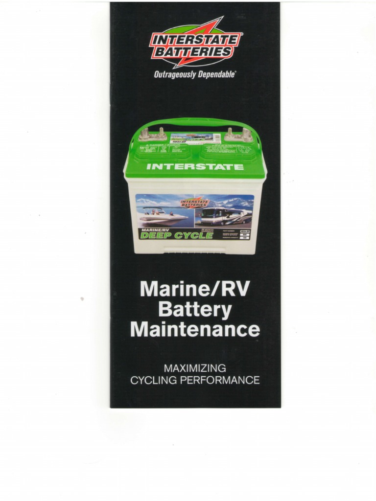 Marine And Rv Battery Lead Acid Battery Training Battery