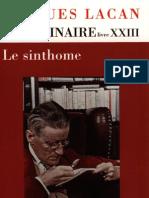 Lacan Seminaire XXIII Le Sinthome
