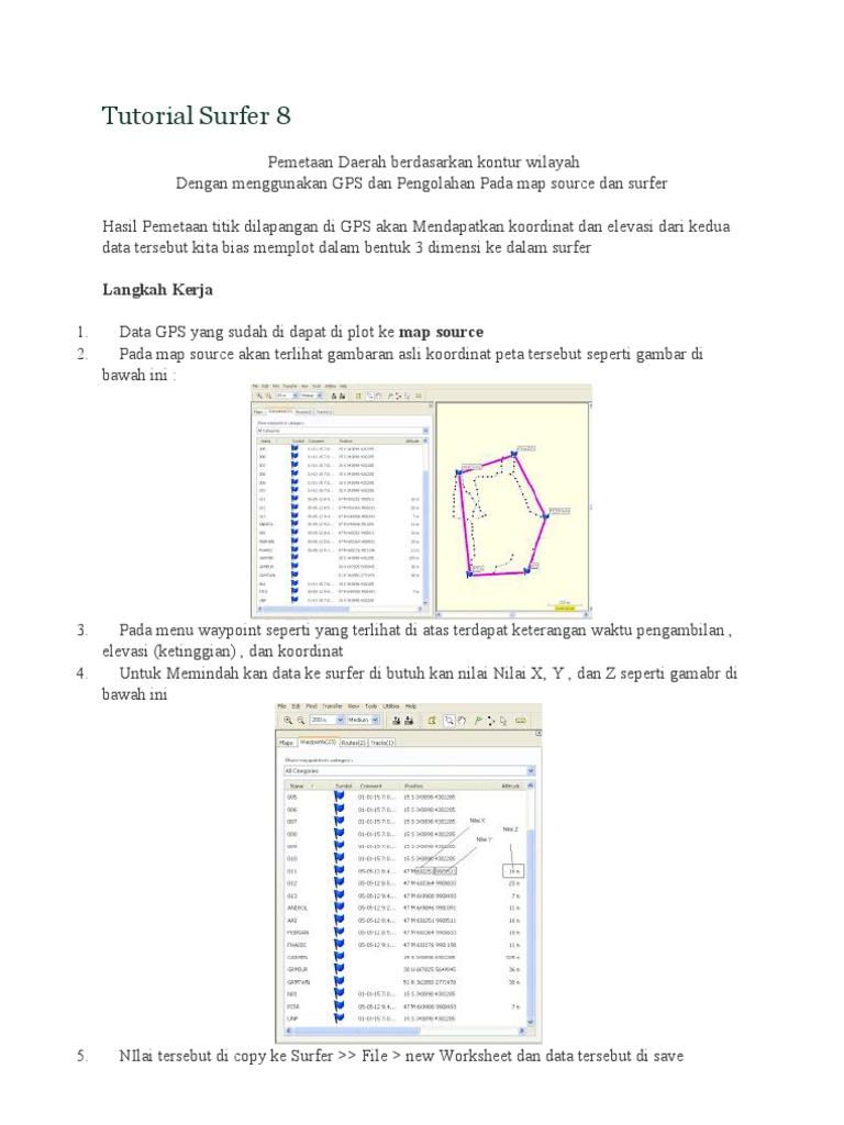 Surfer 8 3d contour maps and surface plots software.