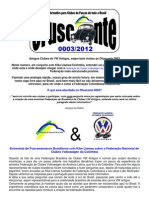 OFuscante - Informativo Para Clubes de Fusca de Todo Brasil - 0003-2012