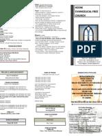 Church Bulletin- October 21