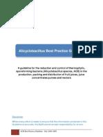 AIJN Alicyclobacillus Best Practice Guideline July 2008