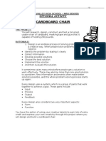 Cardboard Chair Directions