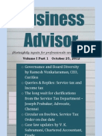 Business Advisor - Volume I Part 1 - October 25, 2012 - Preview
