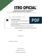 CÓDIGO ORGÁNICO DE ORGANIZACIÓN TERRITORIAL, AUTONOMÍA Y DESCENTRALIZACIÓN COOTAD RO 303 19102010
