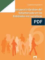 Claves para la Gestión del Voluntariado en las Organizaciones no Lucrativas