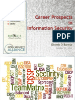 Career Prospects in Information Security