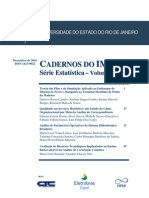 Cadernos Do IME - Serie Estatistica Vol 29