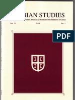 Sotirovic Serbian Studies Journal, Macedonia 1870 to 1912, Vol. 23, 2009 (2011)